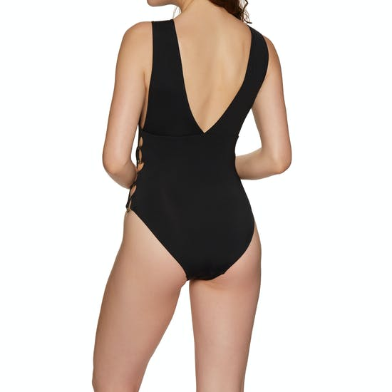 Seafolly Active Ring Side High Neck Swimsuit