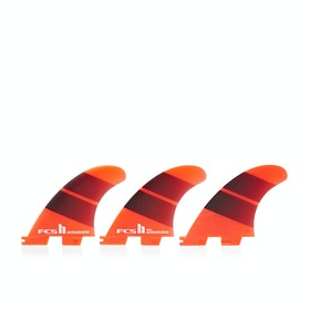 FCS II Accelerator Neo Glass Tang Gradient Tri Fin - Red Mood