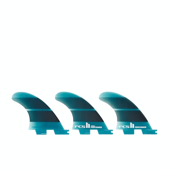 FCS II Performer Neo Glass Teal Gradient Tri Fin