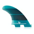 FCS II Performer Neo Glass Teal Gradient Tri-Quad Fin