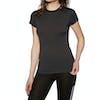 Helly Hansen Merino Light Short Sleeve Womens Base Layer Top - Ebony