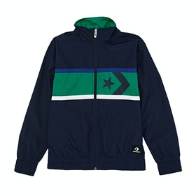 Converse Star Chevron Woven Wind Kids Jacket - Obsidian