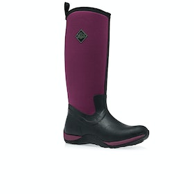 Muck Boots Arctic Adventure Womens Wellies - Black Maroon