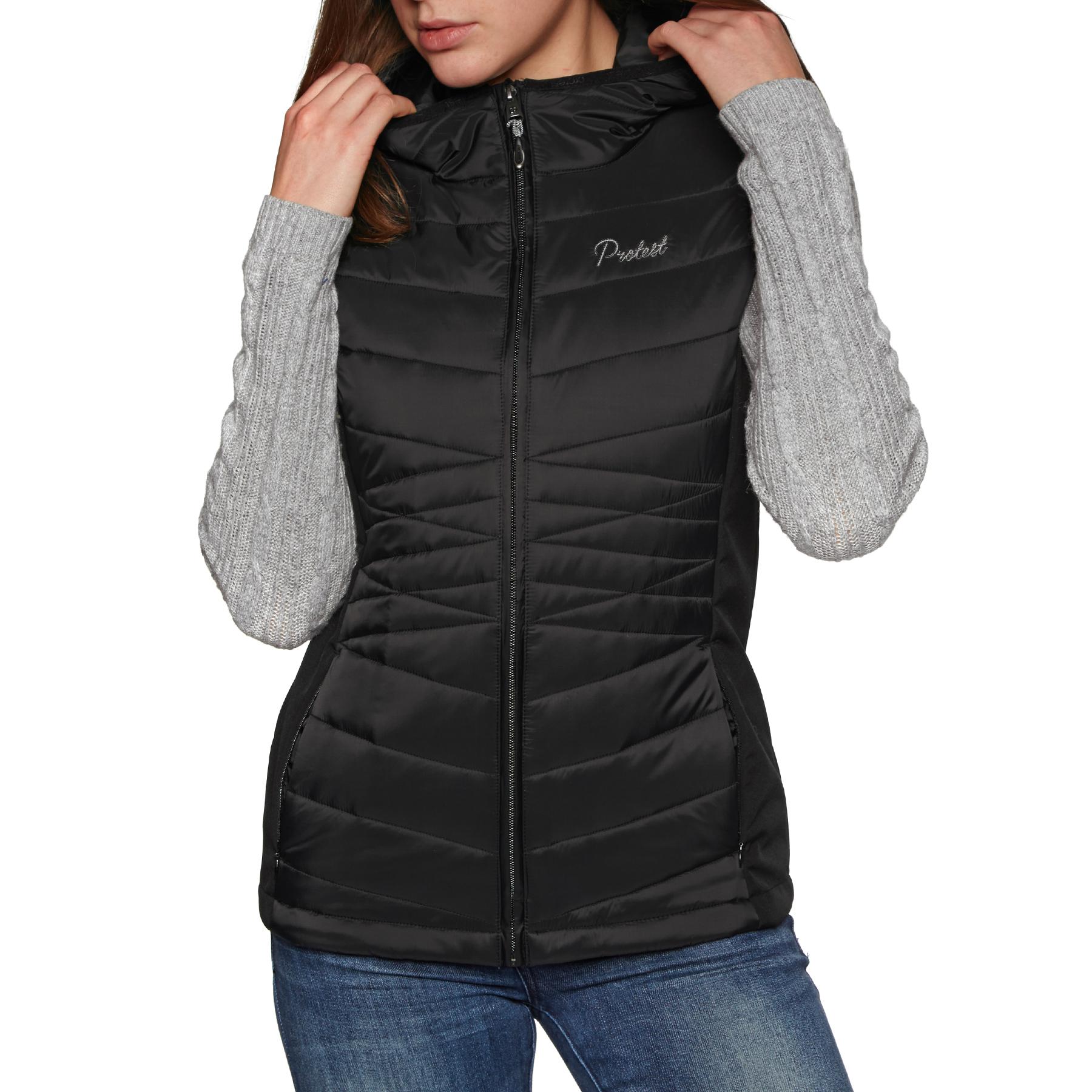 Protest Palmer Womens Jacket Gilet - True Black All Sizes | eBay