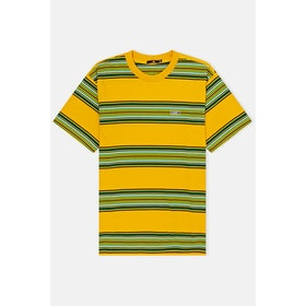 Obey Route Classic S S T-Shirt - Yellow Multi