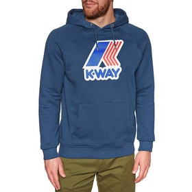 K-Way Sean Ft Macro Pullover Hoody - Blue Ottanio