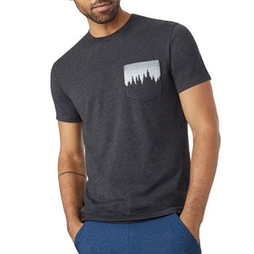 T-Shirt de Manga Curta Tentree Juniper Pocket - Meteorite Black