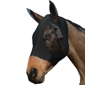 Weatherbeeta Stretch Bug Eye Saver With Ears Fly Mask - Black