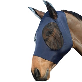 Weatherbeeta Stretch Bug Eye Saver With Ears Fly Mask - Navy Black