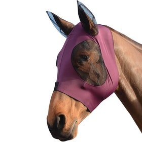 Weatherbeeta Stretch Bug Eye Saver With Ears Fly Mask - Purple Black