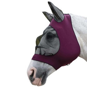 Weatherbeeta Stretch Eye Saver With Ears Fly Mask - Purple/black
