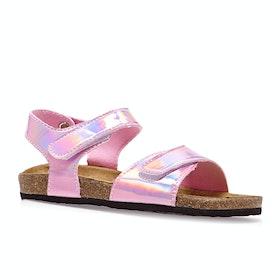 Joules Tippytoes Girls Sandals - Metallic Pink