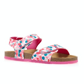 Joules Tippytoes Girls Sandals - White Fairy Ditsy