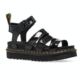 Dr Martens Blaire Womens Sandals - Black Patent Lamper
