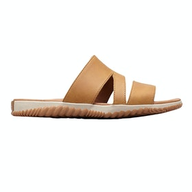 Sorel Out N About Plus Slide Ladies Sandals - Camel Brown