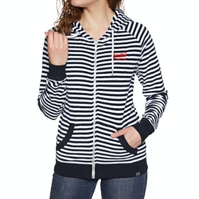 Superdry Ebele Stripe Womens Zip Hoody - Eclipse Navy Stripe
