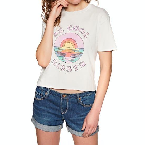Sisstrevolution Be Cool Crop Ladies Short Sleeve T-Shirt