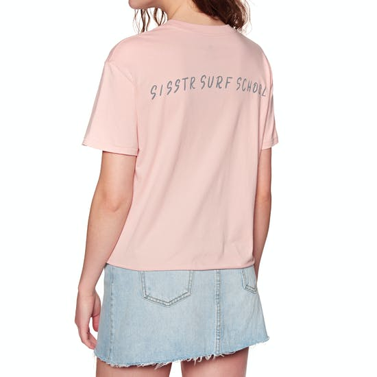 Sisstrevolution Surf School Crop Ladies Short Sleeve T-Shirt