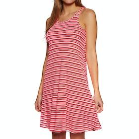 Superdry Willis Stripe Swing Kleid - Coral Ecru Stripe