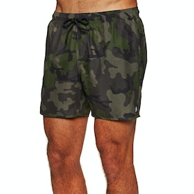 Reef Emea Volley Boardshorts - Green Camo