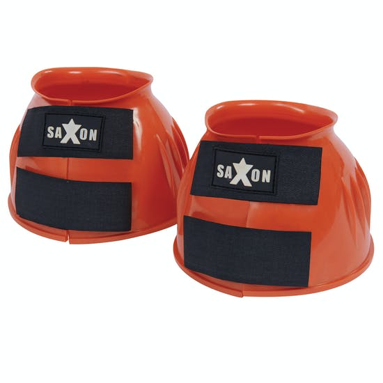 Saxon Double Tape PVC Ribbed Over Reach Boots