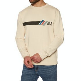 Lightning Bolt Shredding Crew Sweater - Fog