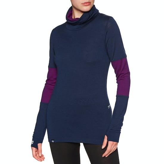 Top Abbigliamento Base Donna Mons Royale Cornice Rollover Ls
