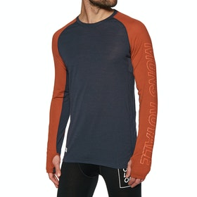 Mons Royale Temple Tech Base Layer Top - Clay 9 Iron
