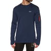 Mons Royale The Harkin Jersey Crew Base Layer Top - Navy
