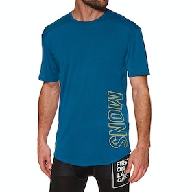 Mons Royale Mtn X T Base Layer Top - Oily Blue