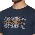 O Neill Triple Logo Short Sleeve T-Shirt