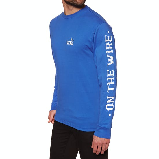 90f9a4ca Vans X Anti Hero On The Wire Long Sleeve T-Shirt available from Surfdome
