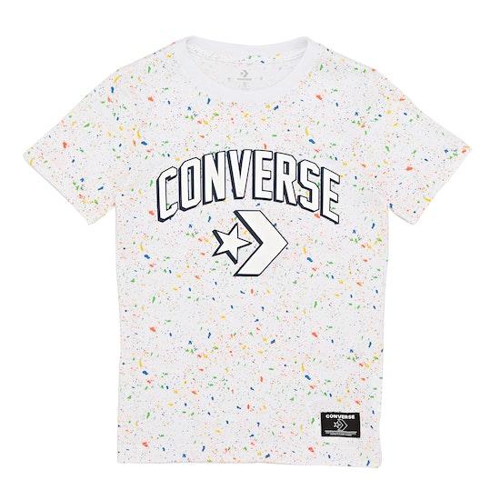 Converse Printed Splatter Kids Short Sleeve T-Shirt