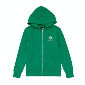Converse Stacked Wordmark F.t Kids Zip Hoody - Bold Jade