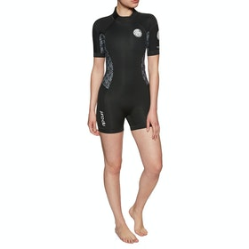 Rip Curl Dawn Patrol 2mm Short Sleeve Shorty Wetsuit - Black White