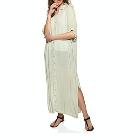 Amuse Society Tranquilo Woven Kleid - Palm Green