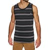 Hurley Drifit Harvey Stripe Pocket Tank Vest - Black