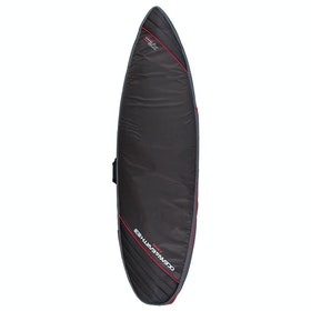 Ocean and Earth Aircon Heavyweight Shortboard Surfboard Bag - Black Light Red