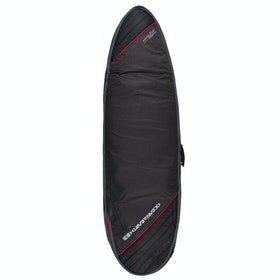 Ocean and Earth Compact Day Fish Surfboard Bag - Black Light Red