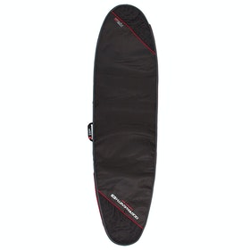 Ocean and Earth Compact Day Longboard Surfboard Bag - Black Light Red