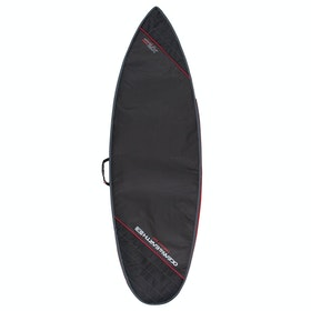 Ocean and Earth Compact Day Shortboard Surfboard Bag - Black Light Red