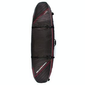 Ocean and Earth Quad Coffin Shortboard Surfboard Bag - Black Light Red