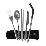 Mizu Straw and Cutlery Set