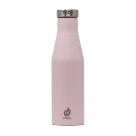 Mizu S4 w Stainless Steel Cap Flask - Enduro Soft Pink