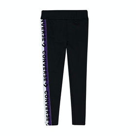 Converse High Rise With Wordmark Taping Kids Leggings - Black