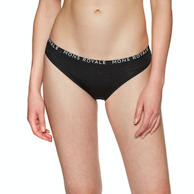 Mons Royale Folo Brief Womens Knickers - Black