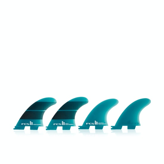 FCS II Performer Neo Glass Teal Gradient Quad Fin