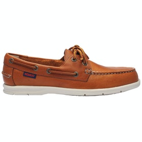 Sebago Naples Ladies Slip On Trainers - Brown Tan