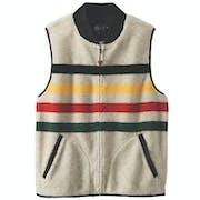 Fashion Waistcoat Pendleton Glacier Stripe Fleece