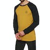 Mons Royale Icon Raglan Long Sleeve Base Layer Top - Black Turmeric